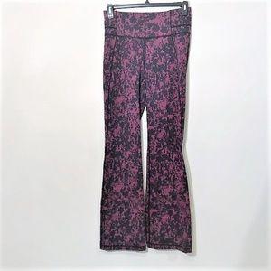 Lululemon | Patterned Flare Yoga Pants Sz 10